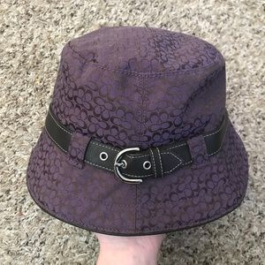Coach Soho signature canvas bucket rain hat EUC